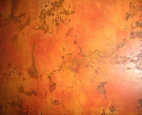 venetian plaster italian plasters Red Rust Distressed Venetian Plaster burnt orange brown red Seattle