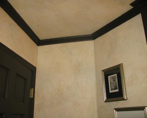 venetian plaster italian plasters Tuscan Plaster Powder Room Sammamish interior ideas faux finish Seattle
