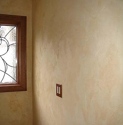 venetian plaster italian plasters Tuscan Plaster Powder Room Seattle wall coverings old world ideas faux Redmond