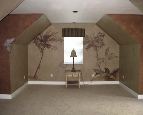 Architectural Faux Finish with Palm Trees Maple Valley bellevue decorators design ideas