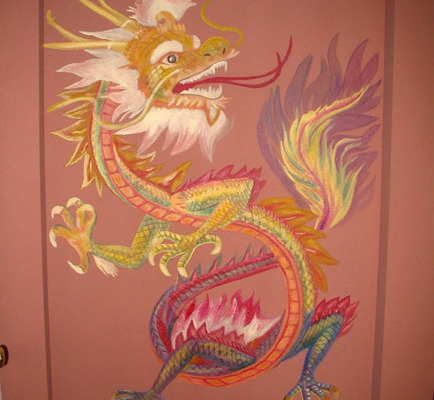 children's rooms Chinese Dragon Mural Bellevue kids rooms boys Seattle