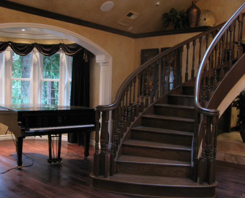 Architectural Faux Finish Entry Bellevue decorators seattle bellevue houzz dark wood rounded staircase