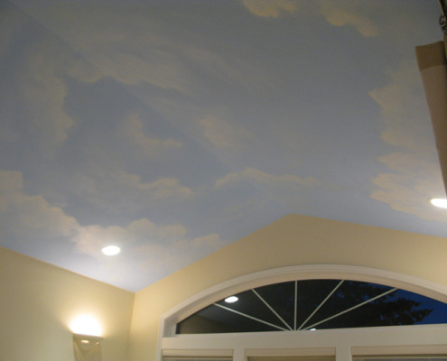 Cloud ceiling murals and painted phrases paradise studios for Cloud ceiling mural