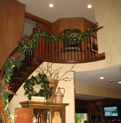 Architectural Faux Finish Entry Redmond interior design wrought iron railing Seattle houzz