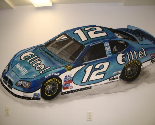 children's rooms Large Nascar Car Mural Bellevue sports boys rooms Seattle race car design ideas