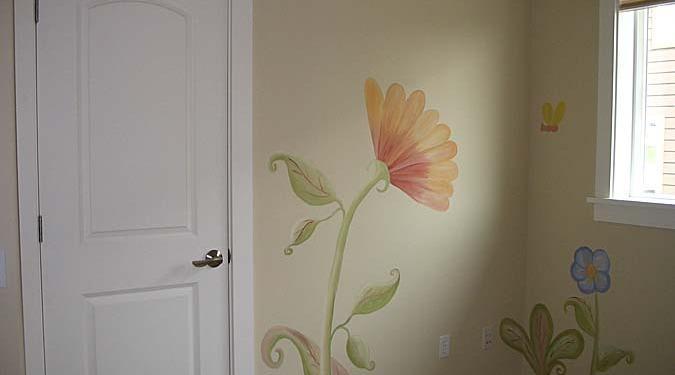 children's rooms Whimsical Flower Design Girls Room Bellevue kids designs Seattle