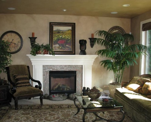 Architectural Faux Finish Kirkland Family Room interior design ideas bellevue fireplace old world chair houzz