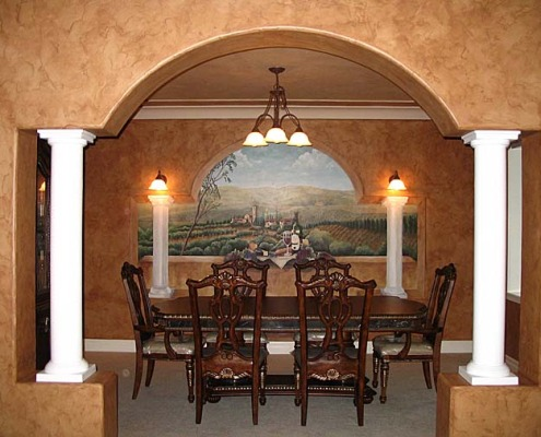 wine cellar murals Vineyard Wine Mural Seattle wine mural art interior design ideas olympia sammamish issaquah