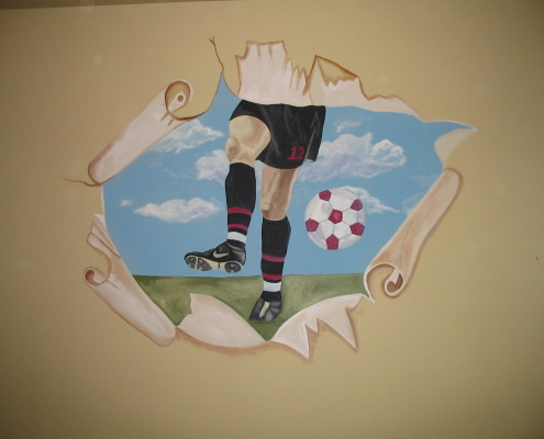 children's rooms Soccer Mural Boys Room Seattle sports kids ideas Redmond