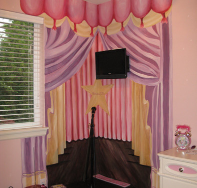 children's rooms Star Stage Girls Room Bellevue kids room ideas pink purple curtains Issaquah