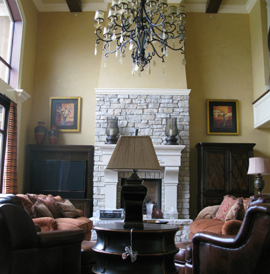 venetian plaster italian plasters French Chateau Plaster Bellevue interior design faux finish crystal iron chandlier rock mantle Seattle Olympia Houzz