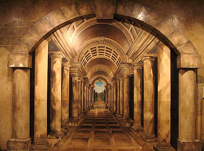 ... Seattle Mural Dimensional Hallway Trompe Lu0027oeil Mural Roman Casino  Seattle Interior Design Ideas Houzz ...