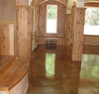 venetian plaster italian plasters Copper Stained Concrete Floors Bellevue Decorative Concrete interior design Seattle