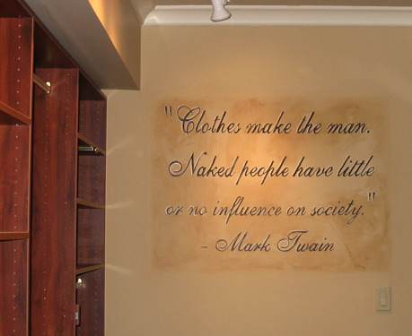 Mark Twain Painted Phrase Seattle hand painted signs phrases words Bellevue quotes