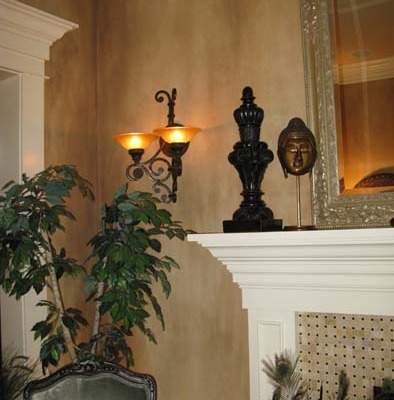 Vertical Architectural Wall Finish Living room Kirkland interior design ideas fireplace wall sconces Seattle bellevue houzz