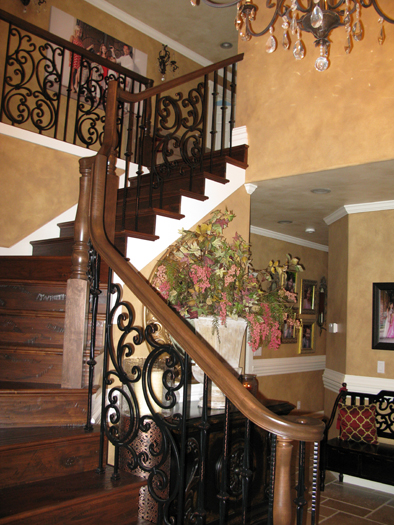 Architectural Faux Finish Entry Gig Harbor interior design ideas iron railing bellevue houzz