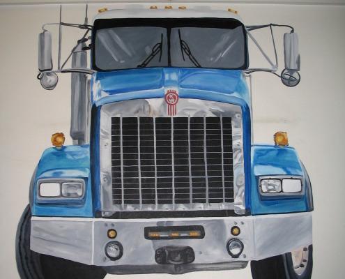 children's rooms Semi Truck Mural Seattle kids boys themes Kent