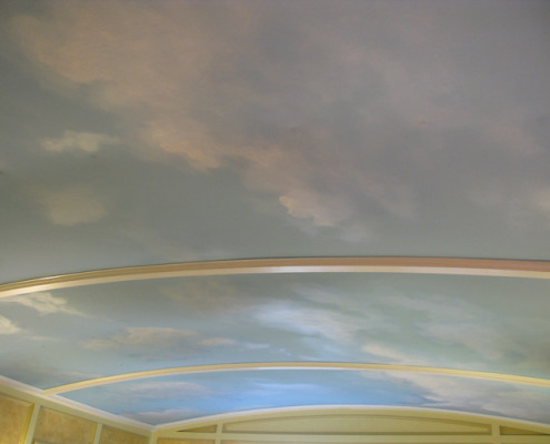 Day Time Sky Ceiling with Clouds Bedroom Olympia Bellevue cloudscape on ceiling