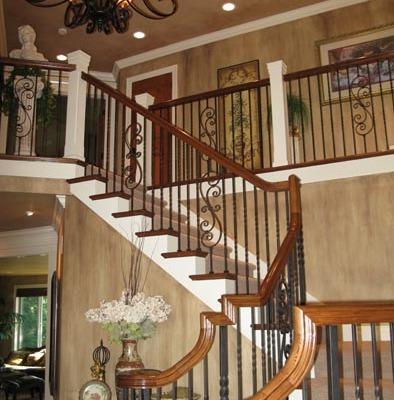 Vertical Architectural Finish Entry Kirkland interior design ideas iron railing iron chandelier bellevue houzz