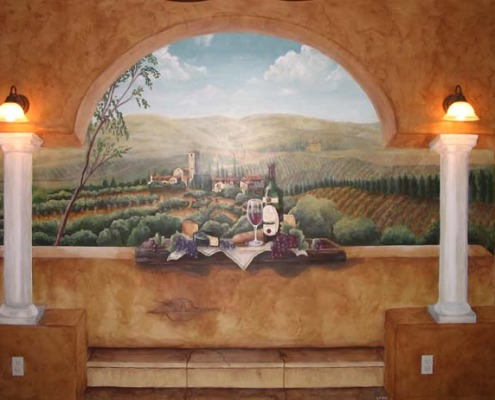 wine cellar murals Vineyard Wine Mural Seattle