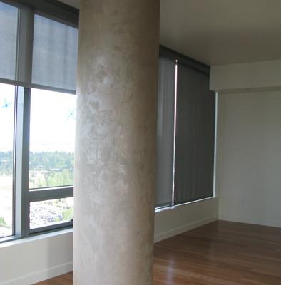 venetian plaster italian plasters Contemporary Metallic Plaster Column Bellevue columns interior Seattle