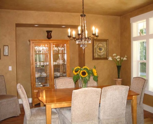 Faux Finish Dining Room Bellevue quaint dining room decorator