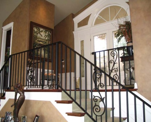 Architectural Faux Finish Kirkland Entry interior design ideas Seattle bellevue tacoma houzz wrought iron railing