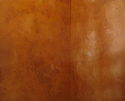 venetian plaster italian plasters Spice Distressed Marmarino Venetian Plaster Seattle rust orange copper