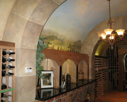 wine cellar murals Vineyard Wine Cellar Mural Mercer Island