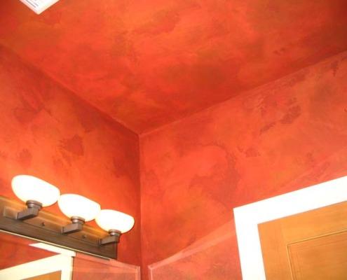 venetian plaster italian plasters Distressed Italian Plaster Powder Room Tacoma rust interior design ideas Bellevue