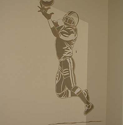 Football Mural Boys Room Seattle sport kids designs Olympia