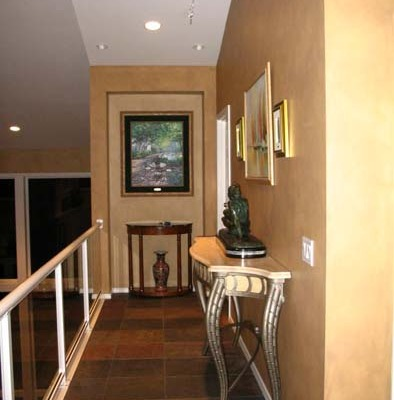 Architectural Faux Finish Hallway Seattle decorative paint bellevue tacoma house painters end table