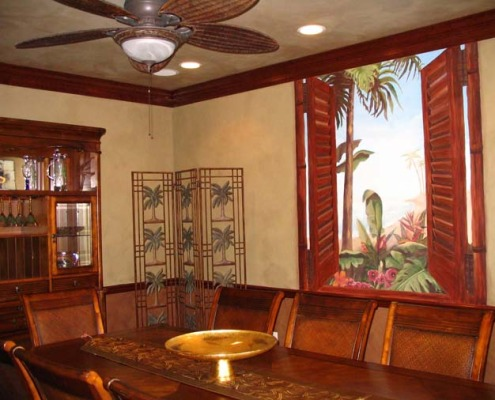 Architectural Faux Finish and Mural Bellevue Dining Room interior design ideas Seattle dining table houzz woven fan