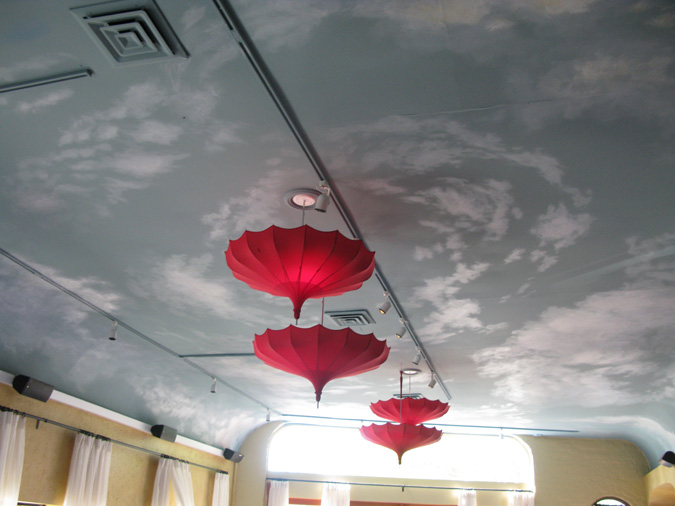 CLOUD CEILING MURALS AND PAINTED PHRASES - Paradise Studios Luxury ...