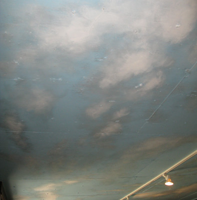 cloud ceiling murals Cloudscape on Basement Wine Cellar Ceiling Seattle puffy clouds Kirkland
