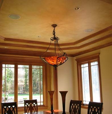 Architectural Faux Finish Dining Room Ceiling Seattle interior design ideas bellevue painters chandelier