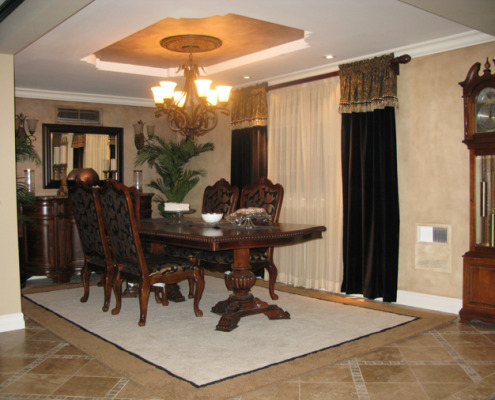Architectural Faux Finish Dining Room Bellevue interior design ideas decorative paint seattle bellevue old world dining table