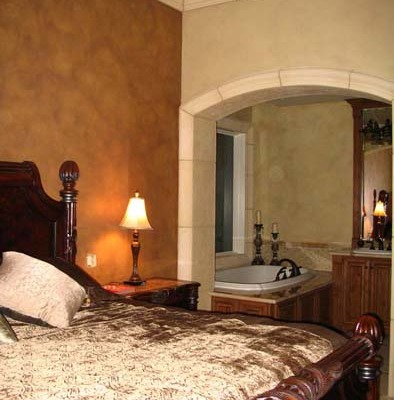 Architectural Faux Finish Master Bedroom Kirkland interior design ideas Seattle bellevue tacoma silk bedspread