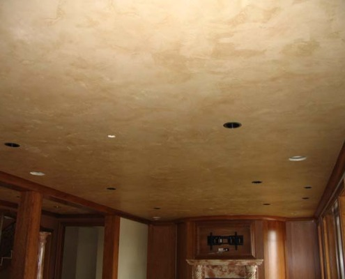 venetian plaster italian plasters Italian Plaster Ceiling Family Room Seattle