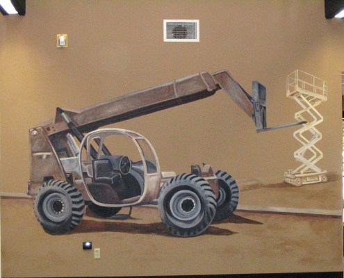 children's rooms Forklift Mural Kent boys men kids Seattle