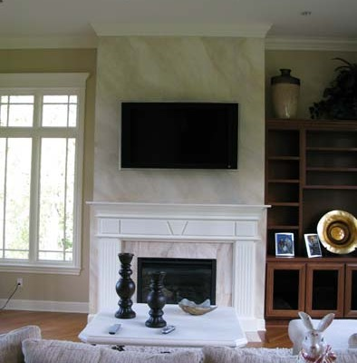 Architectural Faux Finish on Fireplace mantle Bellevue interior design ideas fireplace ideas houzz