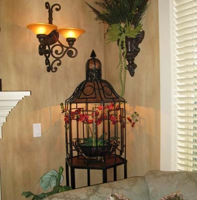 Architectural Faux Finish Formal Living Bellevue wall sconce old world design sammashish house painters