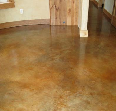 venetian plaster italian plasters Copper Stained Concrete Floors Bellevue stained concrete bronze rust brown Seattle