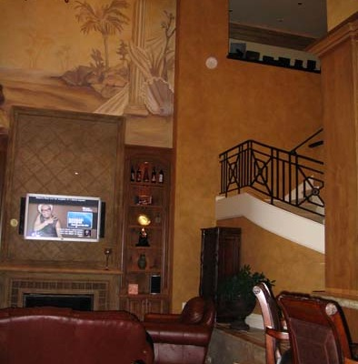 Architectural Faux Finish Kirkland interior designers woodinville Seattle wrought iron stairwell