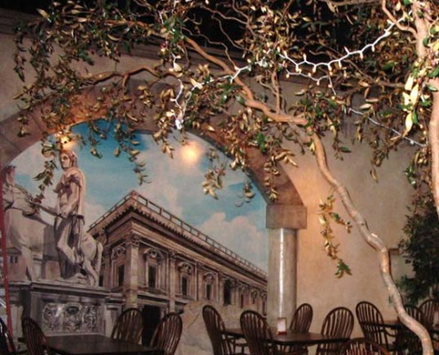 Seattle Mural Overview of Trompe L'oeil Vatican Mural Roman Casino Seattle restaurant murals Woodinville Tacoma