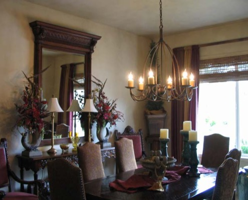 French Chateau Finish Mercer Island Formal Dining Room interior design ideas unique chandelier french dining set french mirror houzz