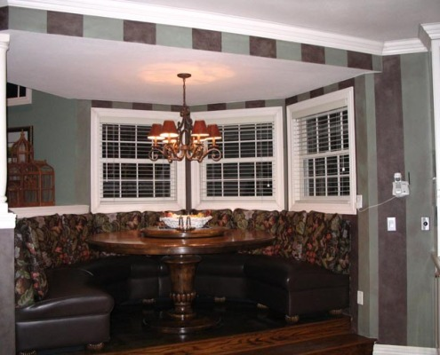 Decorative Stripes Dining Room dining set decorative paint Seattle house painters