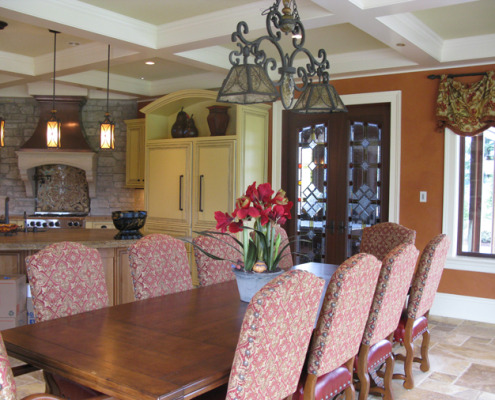 venetian plaster italian plasters French Chateau Plaster Dining Room Olympia Seattle interior designer walls Bellevue