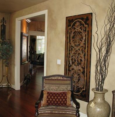 Architectural Faux Finish Living Room Kirkland redmond Interior design ideas wall art old world chair houzz
