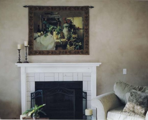 Architectural Faux Finish Living Room Redmond fireplace old world tapestry